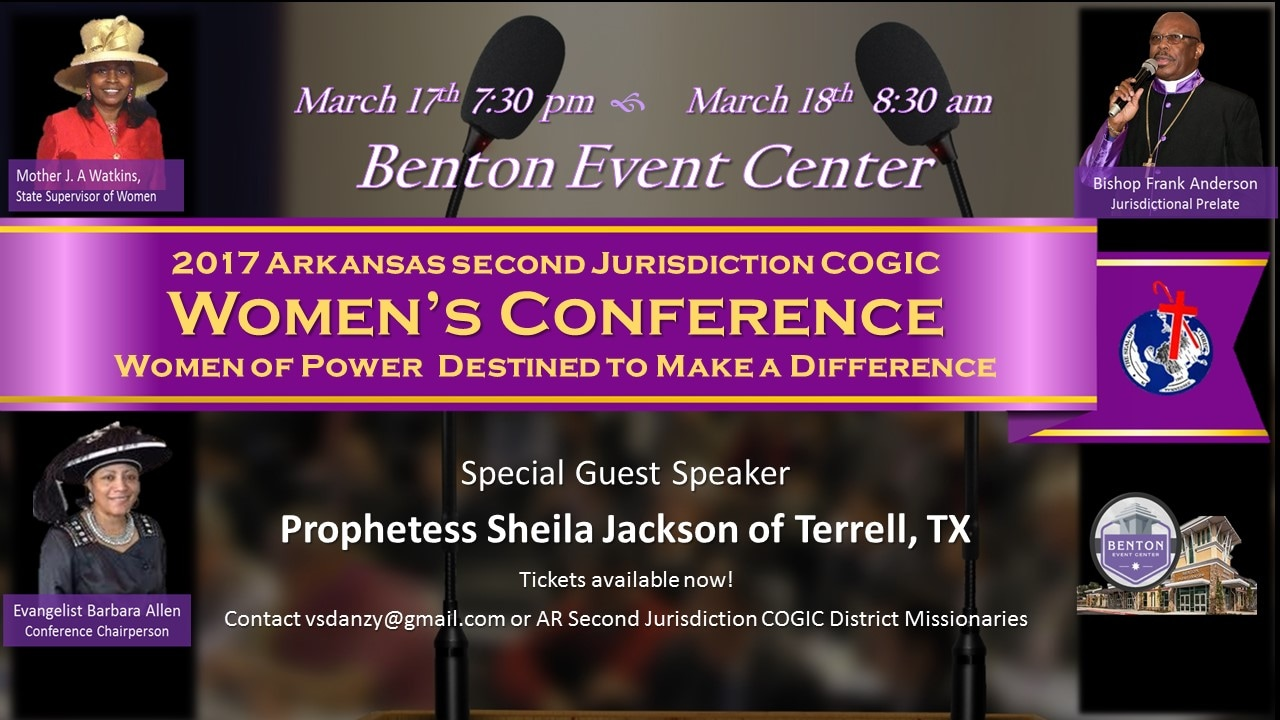 Women's Calendar of Events - AR SECOND JURISDICTION COGIC WOMEN'S